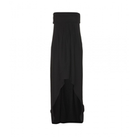 Saint Laurent Strapless Silk Crepe Gown Nero