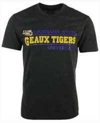 Colosseum Men's Lsu Tigers Verbiage Stack T Shirt Charcoal