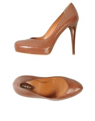 Lerre Platform Pumps Brown