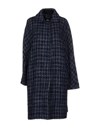 Pf Paola Frani Coats Dark Blue