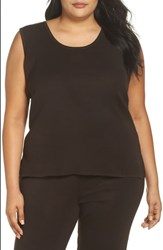 Ming Wang Plus Size Knit Tank Coffee