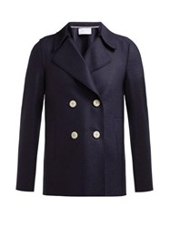 Harris Wharf London Wool Pea Coat Navy