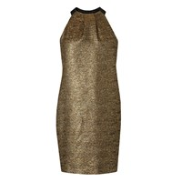 Lk Bennett Thelda Metallic Dress Gold