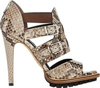 Belstaff Finchley Double Buckle Sandals Nude Size 9.5