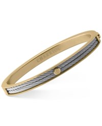 Charriol Forever Two Tone Pvd Stainless Steel Cable Bangle Bracelet Two Tone