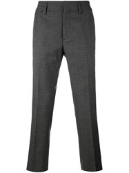 Marc Jacobs Tweed Cropped Trousers Black