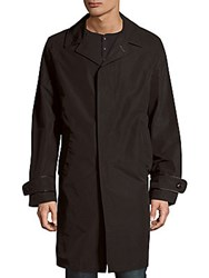 Tom Ford Solid Long Sleeve Trench Coat Black