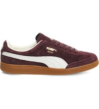 Puma Madrid Low Top Suede Trainers Wine Suede