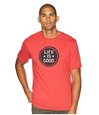 Life Is Good Lig Stamp Smooth T Shirt Americana Red T Shirt