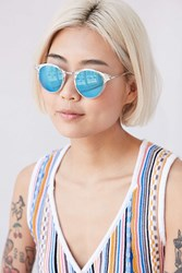 Urban Outfitters Garden State Round Sunglasses Clear