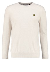 Lyle And Scott Jumper Off White Marl Off White