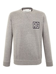 Racing Green Owen Flocked Logo Sweat Charcoal