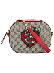 Gucci Snake And Heart Patch Bag Nude Neutrals