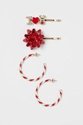Handm H M Hairpins Earrings Red
