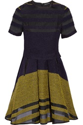Ostwald Helgason Boucle And Silk Organza Dress