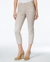 Charter Club Bristol Print Capri Jeans Only At Macy's Almond Latte Combo
