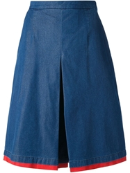 Andrea Incontri A Line Denim Skirt Blue