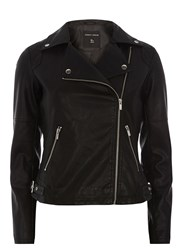 Dorothy Perkins Quilted Biker Jacket Black
