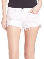 Rag And Bone Distressed Denim Cutoff Shorts White