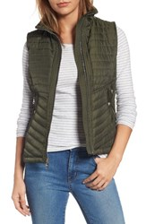 Vince Camuto Women's Contrast Trim Quilted Vest Pine