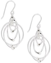 Giani Bernini Multi Circle Bead Drop Earrings In Sterling Silver Only At Macy's