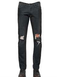 The Kooples 16Cm Destroyed Cotton Denim Jeans
