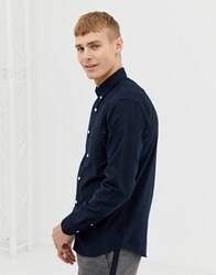 New Look Oxford Shirt In Regular Fit In Navy