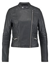 Lipsy Faux Leather Jacket Black