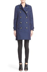 Women's Burberry London 'Dellmont' Double Breasted A Line Trench Coat
