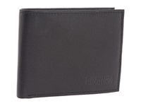 Kenneth Cole Reaction Wall Street Passcase Wallet Black Leather Bill Fold Wallet