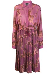 Just Cavalli Tiger Print Dress Pink