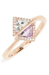 Bony Levy Women's Double Triangle Diamond And Semiprecious Stone Ring Nordstrom Exclusive