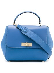 Bally B Turn Tote Bag Blue