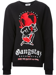 Andrea Crews Embroidered Sweatshirt Black
