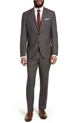 Ted Baker London Jay Trim Fit Plaid Wool Suit Taupe
