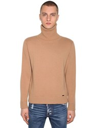 Dsquared Wool And Cashmere Turtleneck Camel