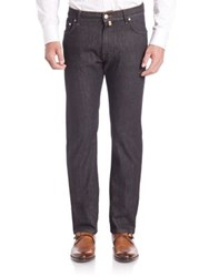 Corneliani Straight Leg Jeans Black