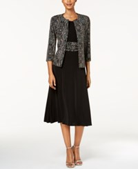 Jessica Howard Metallic Jacket And Dress Regular And Petite Rose Gold