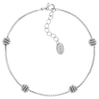 Monet Spiral Ball Boxed Chain Bracelet Silver