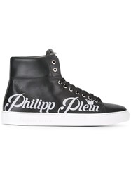 Philipp Plein Hi Top Sneakers Black