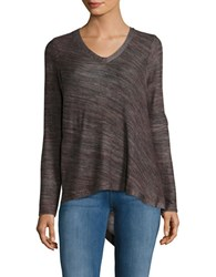 Democracy Asymmetrical Lace Up Sweater Plum