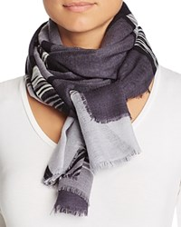 Aqua Spliced Geometric Scarf 100 Exclusive Gray