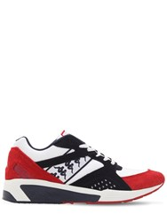Kappa Mesh And Suede Running Sneakers White Red