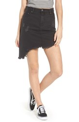 Evidnt Evdnt Modena Asymmetrical Denim Skirt Black Sheep