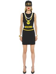 Moschino Necklaces And Belts Printed Crepe Dress