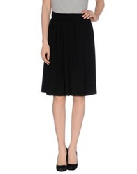 Pink Memories Knee Length Skirts Black