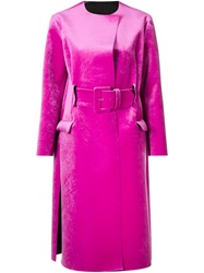 Toga Belted Coat Pink And Purple