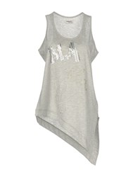 Maison Espin Tank Tops Light Grey