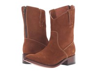Dan Post Georgie Amber Zip Round Cowboy Boots Brown