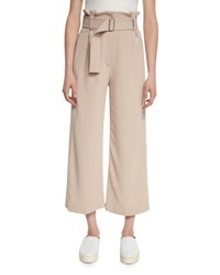 A.L.C. Dillon Belted Paperbag Waist Gaucho Pants Whisper Black